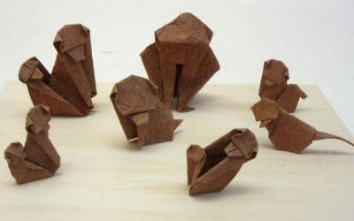 干支 申(さる)の折り紙