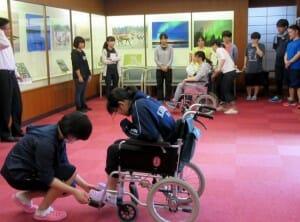 車椅子の訓練