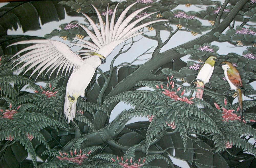 バリ島アクリル絵画展