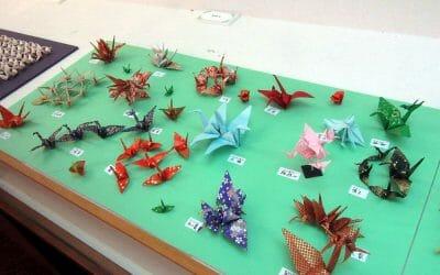 湯浅さんの折り鶴